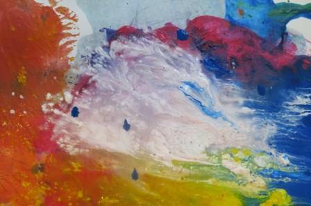 Kritzelkratzel und Farbexplosion