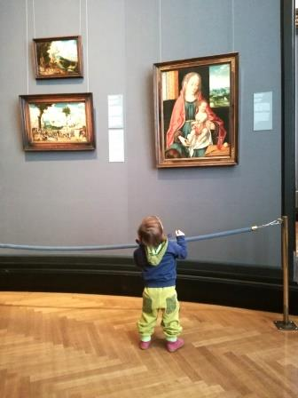 Mark Rothko, Maria mit Kind und Marmorstufen – mit dem Kind im Museum